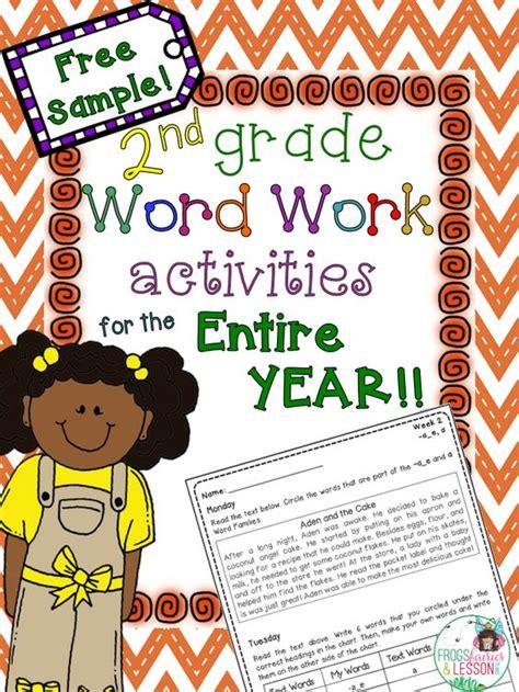 2nd grade word work activities with stories sorting