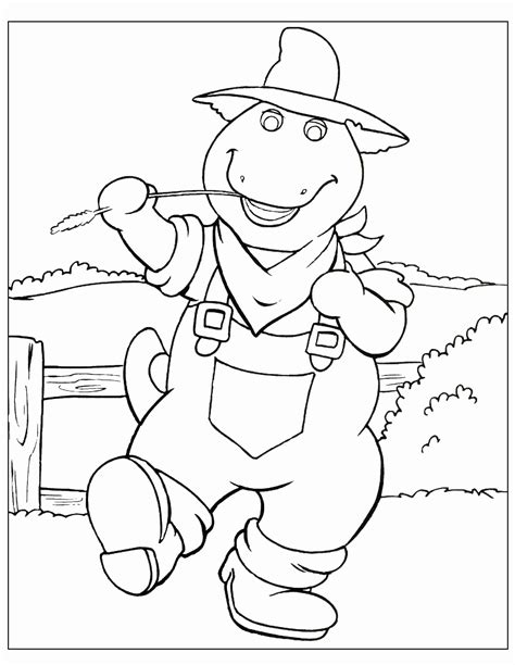 Coloring Pages To Print by Barney Coloring Pages Bestofcoloring
