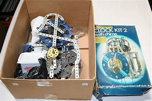A Meccano Clock Kit 2 With Chime  Boxed  Made