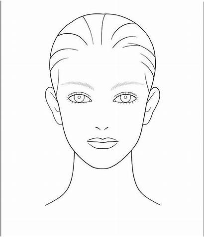 Face Clipart Outline Template Drawing Library Blank