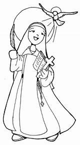 Nun Coloring 604px 43kb sketch template