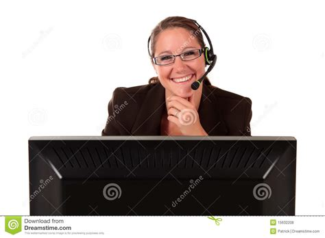 fda eric help desk help desk woman computer royalty free stock photos image