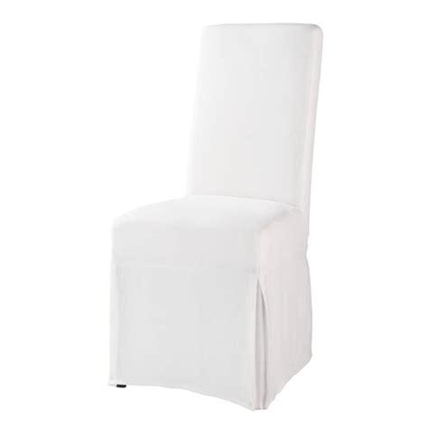 housse de chaise blanche margaux maisons du monde