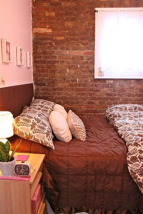 small condo   york charms   exposed brick walls