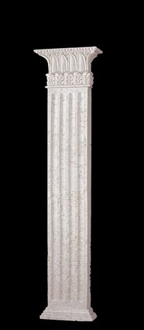 square column   sided rectangular fluted wall column