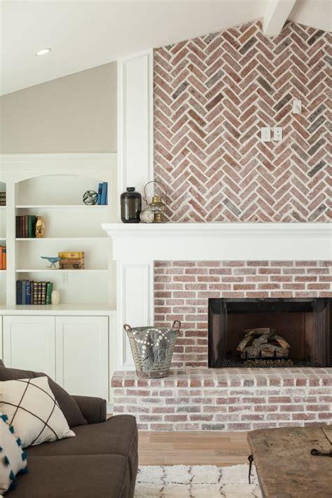 fireplace  herringbone pattern brick work  built