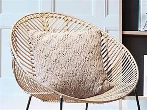 Lounge Sessel Rattan : h bsch rattan lounge chair with armrest metal nature living and co ~ Frokenaadalensverden.com Haus und Dekorationen