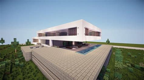 fusion  modern concept mansion minecraft house design