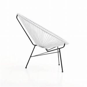 Fauteuil De Jardin Blanc : fauteuil de jardin scoubidoo design blanc ~ Teatrodelosmanantiales.com Idées de Décoration