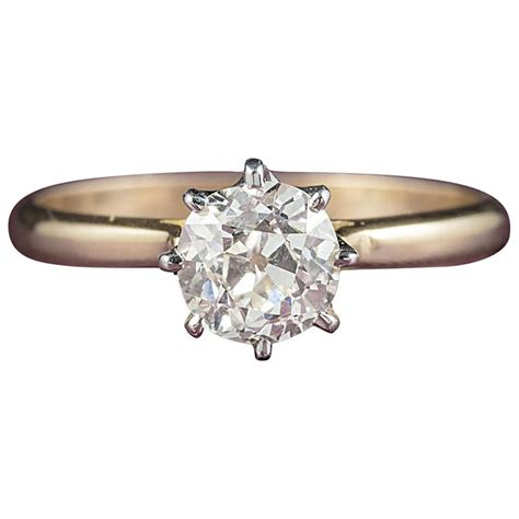 antique victorian diamond engagement ring  carat gold