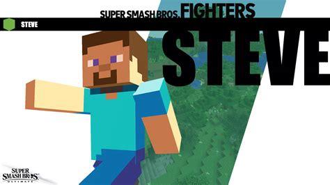 steve  digging smash steve  minecraft support
