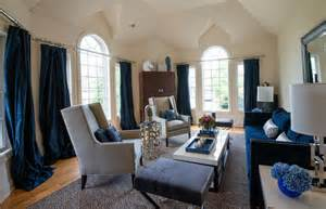 vaulted ceiling kitchen ideas navy blue curtains method new york transitional