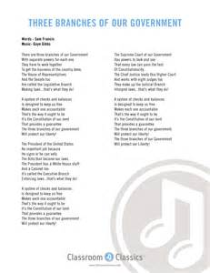 3 Branches of Government Song Lyrics