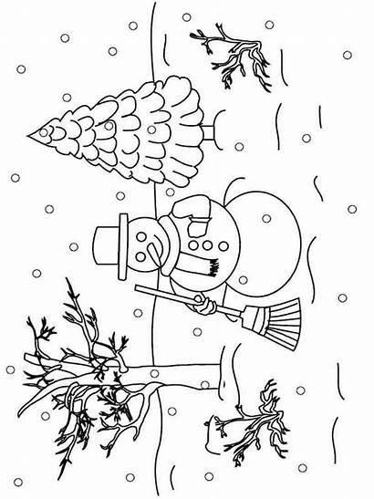 Winter Coloring Pages Printable Nature