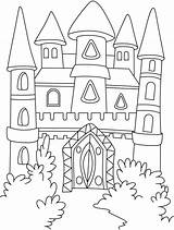 Coloring Castle Pages Flag Popular sketch template