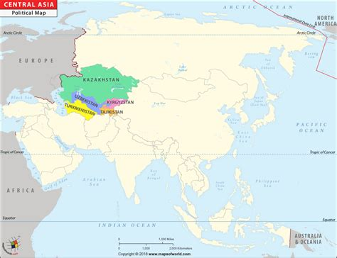 central asia map map  central asian countries