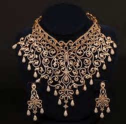 designer jewellery gold and jewellery designs indian choker bridal set
