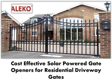 sliding gate opener solar powered cost effective solar powered gate openers for residential