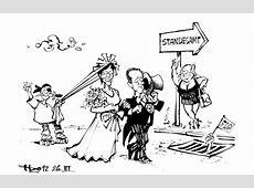 Hochzeit an der Saar Karikaturen Badische Zeitung