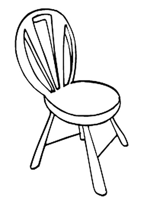 chair coloring pages    print