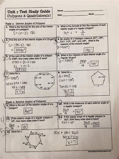gina wilson   algebra unit  homework