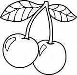 Cherry Coloring Pages Food Sheets Fruits Christmas Medium sketch template