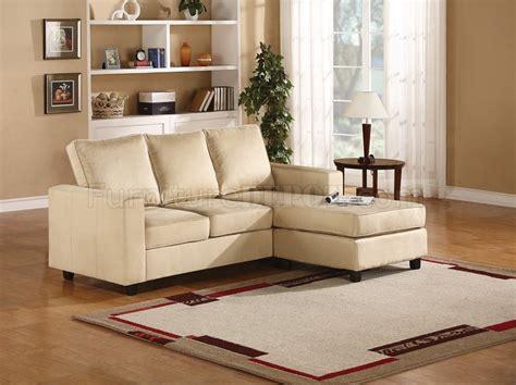 cream microfiber sectional sofa willa sectional sofa in cream microfiber by acme furniture