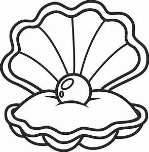 Pearl clipart black and white - Pencil and in color pearl ...