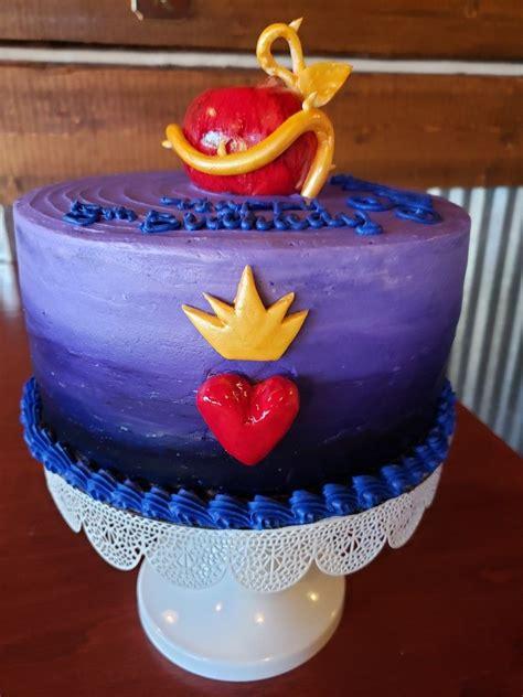 Decendants cake | Birthday party cake, Disney birthday ...