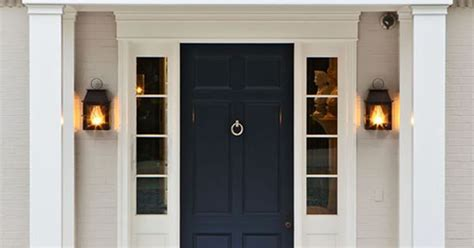 Dark Blue #frontdoor Contrasting Nicely With The White Flooring Supplies East Sussex Buy Wood Plank Gym Floor Jobs Adelaide Parquet Refinishing Cost Garage Nsw Kitchen Laminate Bruce Engineered Oak Hardwood Gunstock Stores Syracuse Ny