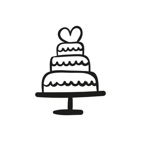 wedding cake icon sketch coloring page