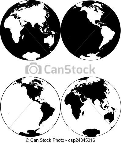 planet earth beautiful black  white icon planet earth