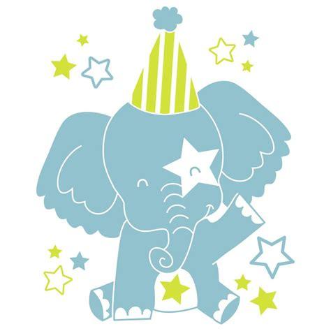 sticker mural quot eléphant quot motif bébé fille pour chambre
