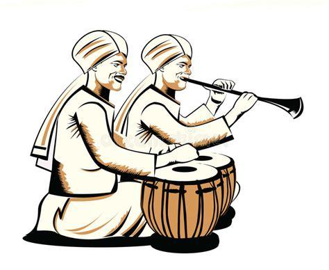 Indian musical instrument sitar variant hand drawn png image. Indian performer stock illustration. Illustration of image ...
