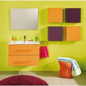 Salle De Bain Orange : exemple armoire salle de bain orange ~ Preciouscoupons.com Idées de Décoration