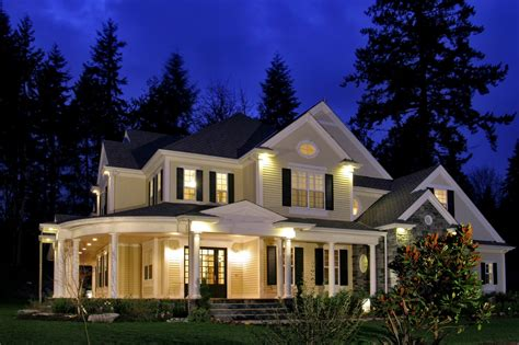 house porch at night queen anne fairhaven homes