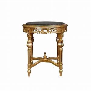 Petite Table Bois : sellette petite table baroque ronde en bois dor ~ Teatrodelosmanantiales.com Idées de Décoration