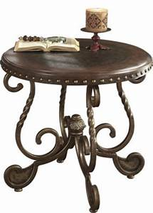Ashley rafferty round end table homemakers furniture for Rafferty coffee table