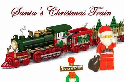 Lego Train Christmas Santa
