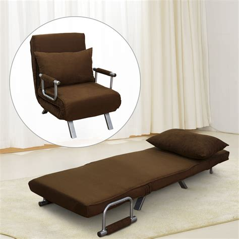 bed chair pillow homcom convertible lounge chair sofa bed folding sleeper