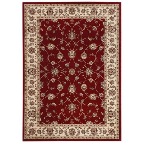 home decorators collection claire red  ft     ft