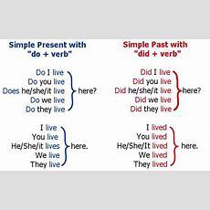 "Do + Verb"" > ""did + Verb"" ""live"" > ""lived""  What Do Verbs Do   Inglés 3° Bloque Iii"