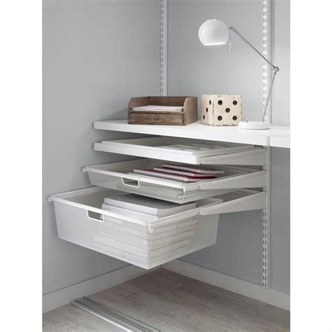rangement du bureau tiroirs modulaires elfa pour organiser le rangement du bureau