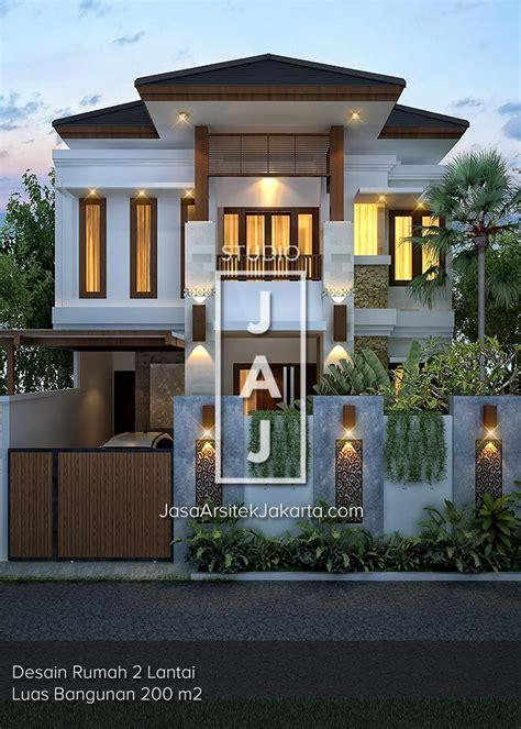 desain rumah 2 lantai bpk hans 200 m2 di jakarta the
