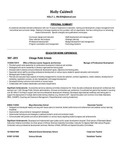 Detail Oriented Resume Statement by Caldwell Resume Li July 2015