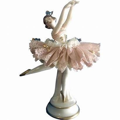 Porcelain Figurine Dresden German Ballerina Dancer Lady