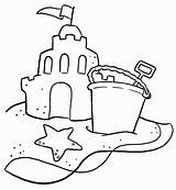 Sand Castle Coloring Shovel Bucket Sandcastle Drawing Clipart Printable Typical Colouring Sheet Getcoloringpages Simple Sheets Clip Az Popular Sketch Buckets sketch template