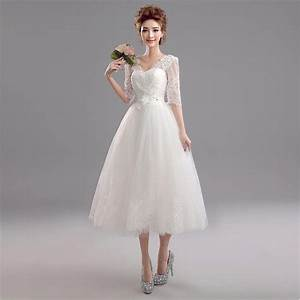 aliexpresscom buy vintage style half sleeve lace mesh With mid calf wedding dresses