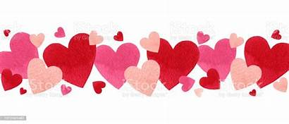 Valentines Happy Watercolor Valentine Hearts February Banner