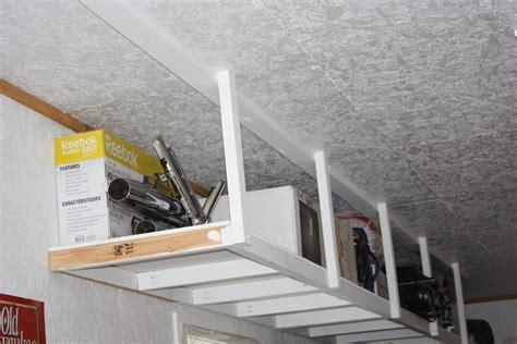 build overhead garage storage white overhead garage storage diy projects